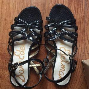 Sam Edelman Black Strappy Platform Sandals